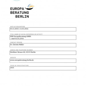 thumbnail of Framework for best practise – EuropaBeratung