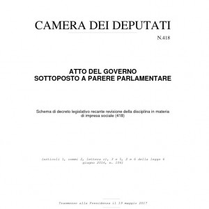 thumbnail of Italian Government law on the reform of Social Enterprise